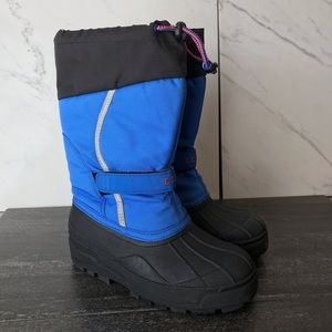 L.L. Bean Northwoods Youth Blue Snow Boots